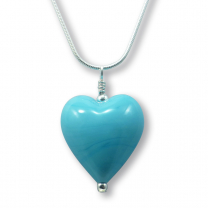 Murano Glass Heart Pendant - Julietta