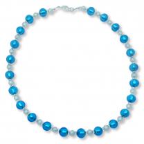 Murano Glass Necklace - Gianna Azure