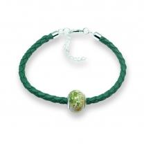 Murano glass charm bead nappa leather bracelet – Venezia Sei