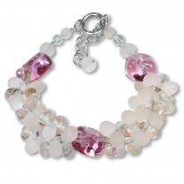 Murano Glass Bracelet - Piera Coral