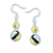 Murano Glass Earrings - Oliva Gold