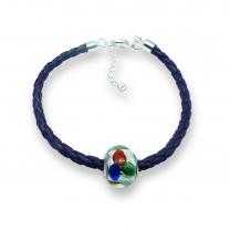 Murano glass charm bead nappa leather bracelet – Venezia Cinque