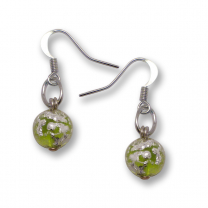 Murano Glass Earrings - Brina Lime