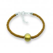 Murano glass charm bead nappa leather bracelet – Venezia Sette