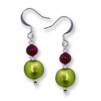 Murano Glass Earrings - Cara Light Emerald