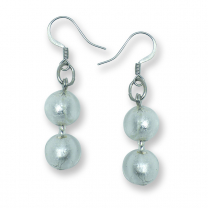 Murano Glass earrings - Gianna Silver