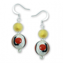 Murano Glass Earrings - Alina Rosso