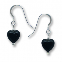 Murano Glass Heart Earrings - Gaia