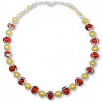 Murano Glass Necklace - Alina Rosso