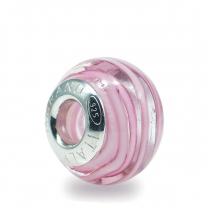 Murano Glass charm bead - Undici-pink
