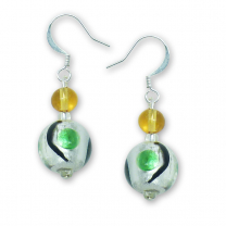 Murano Glass Earrings - Alina Verde