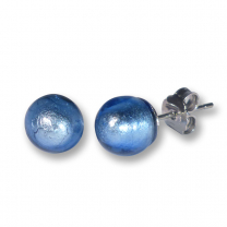 Murano Glass Stud Earrings - Esta Azure