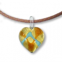 Murano Glass Heart Pendant - Treccia Julietta