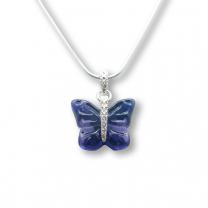 Murano Glass Butterfly Pendant – Farfalle Viola