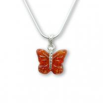 Murano Glass Butterfly Pendant – Farfalle Rosso