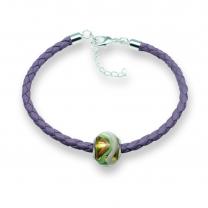 Murano glass charm bead nappa leather bracelet – Venezia Uno