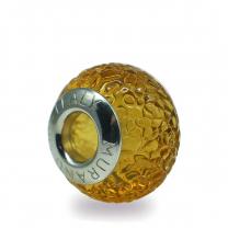 Murano Glass charm bead - Dodici-amber