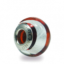 Murano Glass charm bead - Sedici crimson