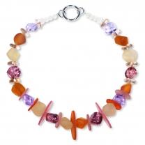 Murano glass necklace - Sienna Mandarino