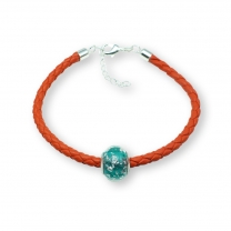 Murano glass charm bead nappa leather bracelet – Venezia Nove