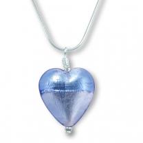 Murano Glass Heart Pendant - Esta Azure