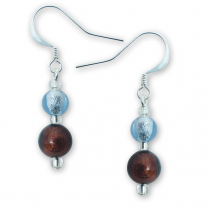 Murano Glass Earrings - Esta Ruby