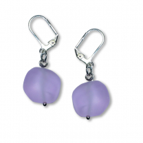 Murano Glass Earrings - Nerina Lila