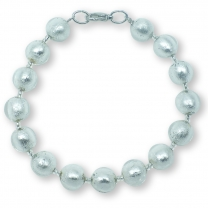 Murano Glass bracelet - Gianna Silver