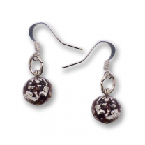 Murano Glass Earrings - Brina Dark Crimson