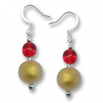 Murano Glass Earrings - Luna Gold Matt
