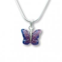 Murano Glass Butterfly Pendant – Farfalle Malva Light