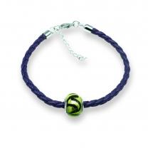 Murano glass charm bead nappa leather bracelet – Venezia Quattro