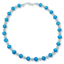 Murano Glass Necklace - Gianna Azure