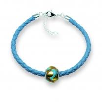 Murano glass charm bead nappa leather bracelet – Venezia Due