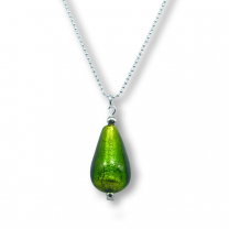 Murano glass pendant - verde 'drop'