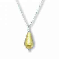 Murano glass pendant - gold 'drop'