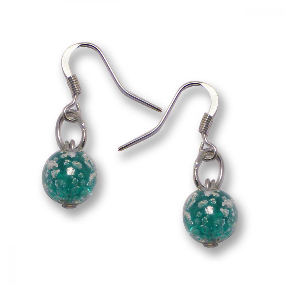 Murano Glass Earrings - Brina Aquamarine Photo