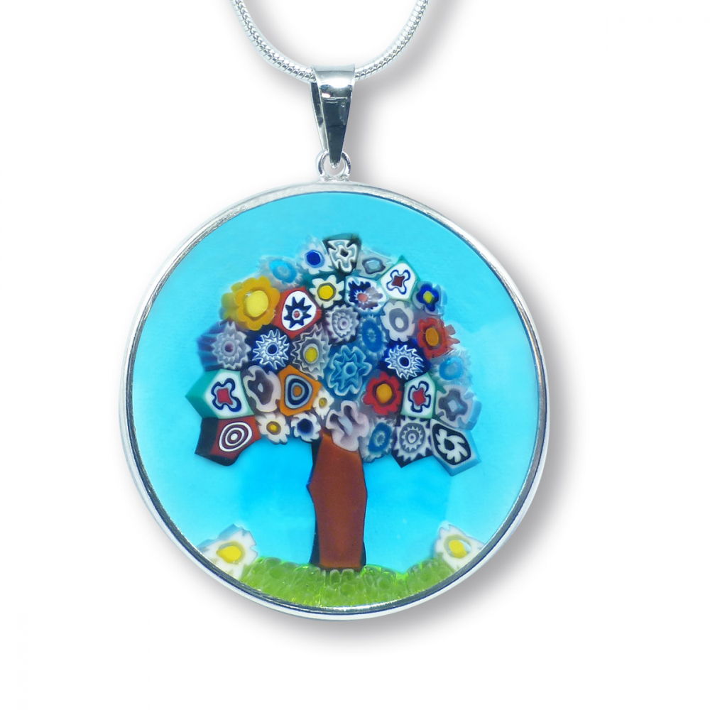 Murano Glass Pendant - Murrina Albero Photo