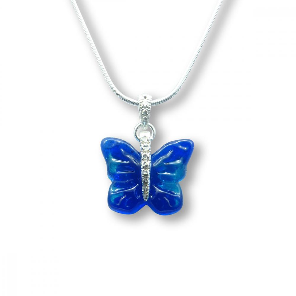 Murano Glass Butterfly Pendant – Farfalle Turchino Photo