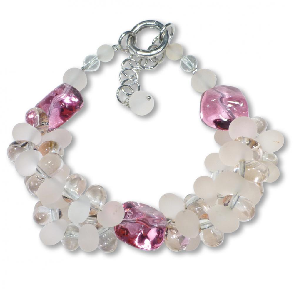 Murano Glass Bracelet - Piera Coral Photo