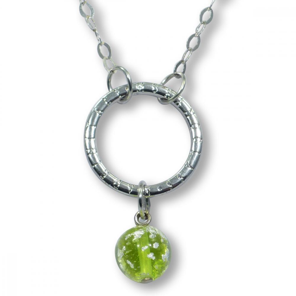 Murano Glass Necklet - Brina Lime Photo