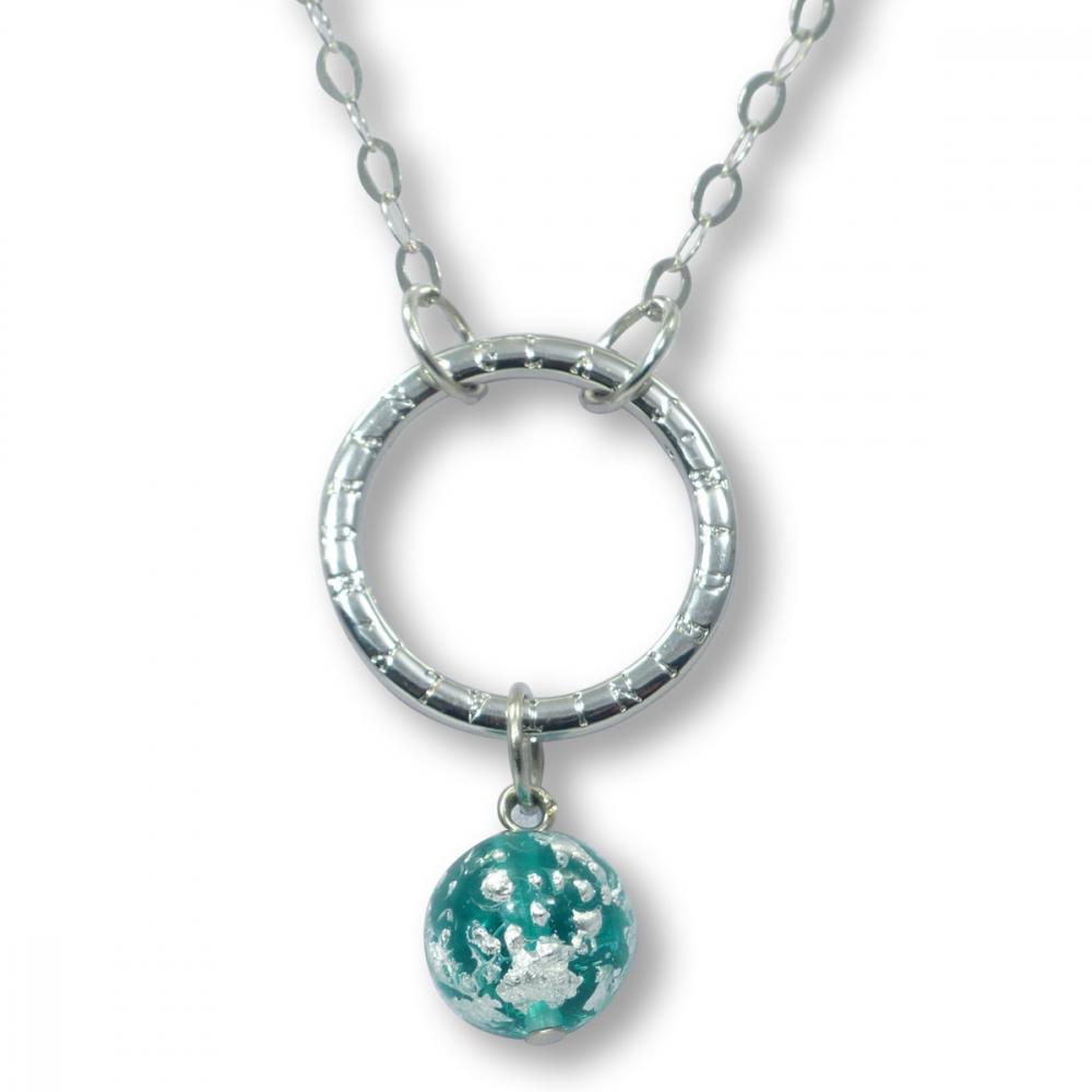 Murano Glass Necklet - Brina Aquamarine Photo