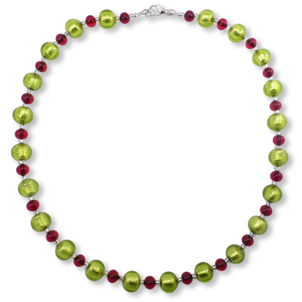Murano Glass Necklace - Cara Light Emerald Photo