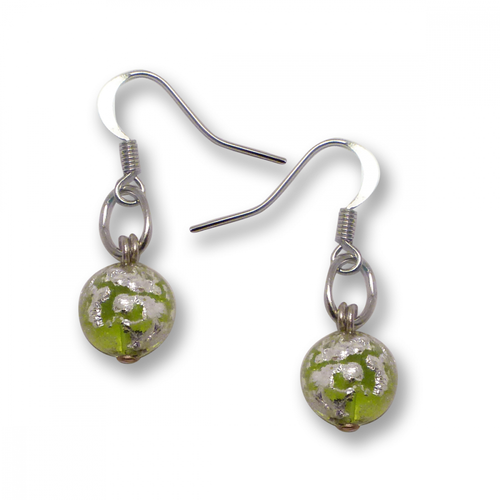 Murano Glass Earrings - Brina Lime Photo