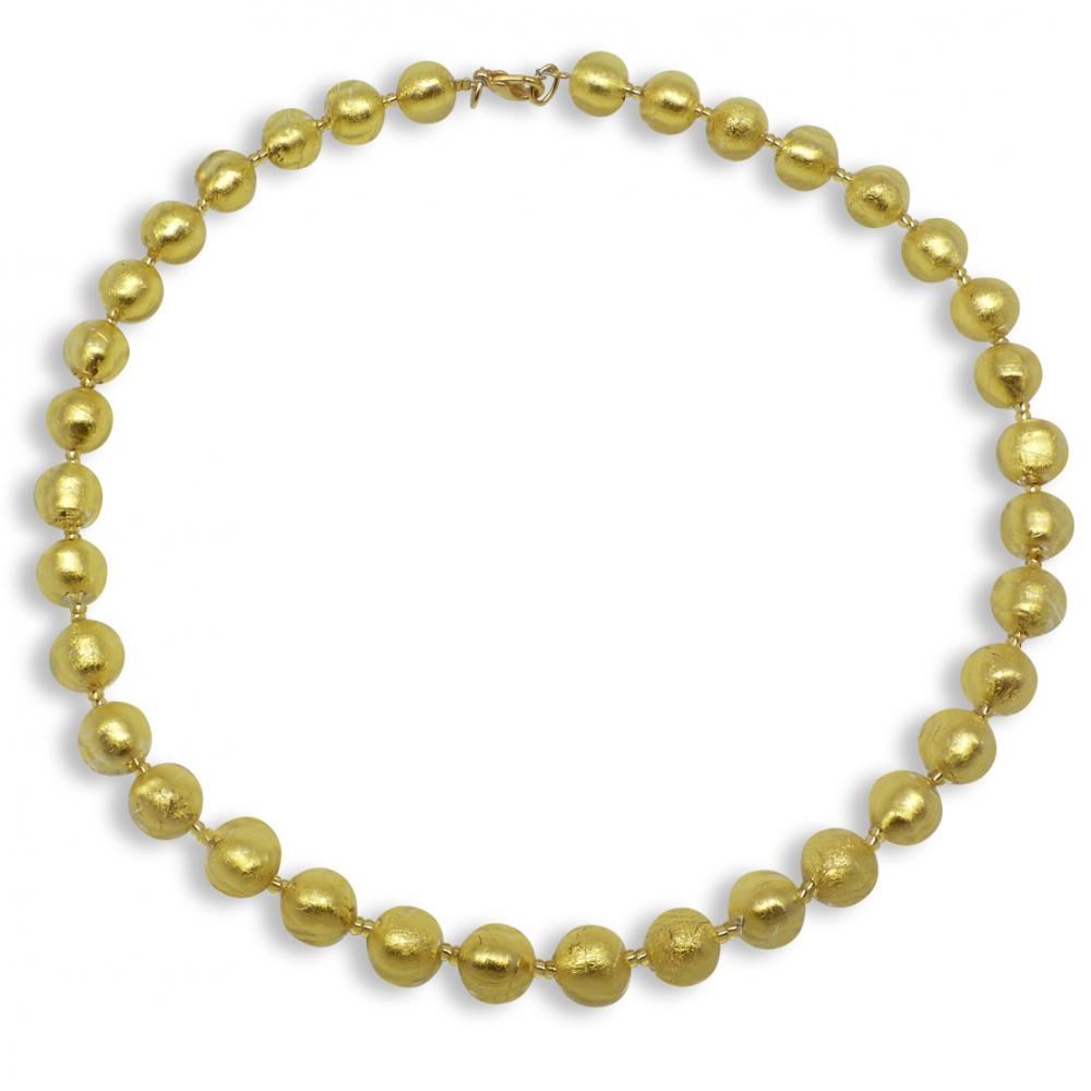 Murano Glass necklace - Gianna Gold Photo