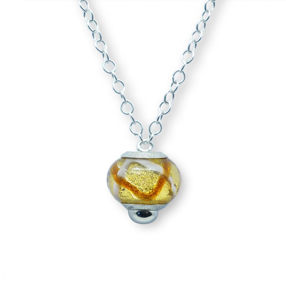 Murano glass charm bead necklet – Venezia Tre Photo