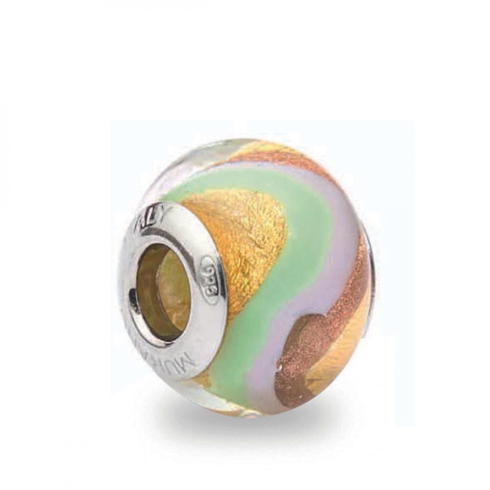 Murano Glass Charm Bead - Uno Photo