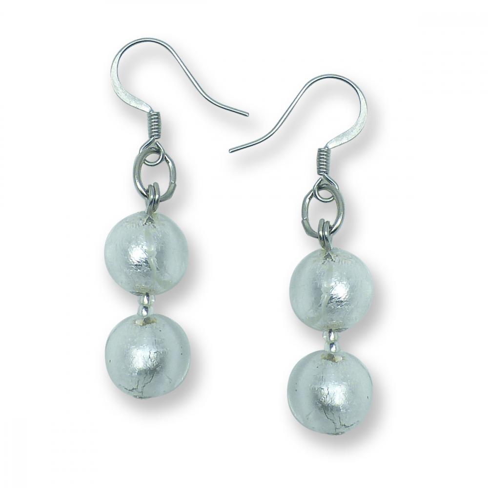 Murano Glass earrings - Gianna Silver Photo
