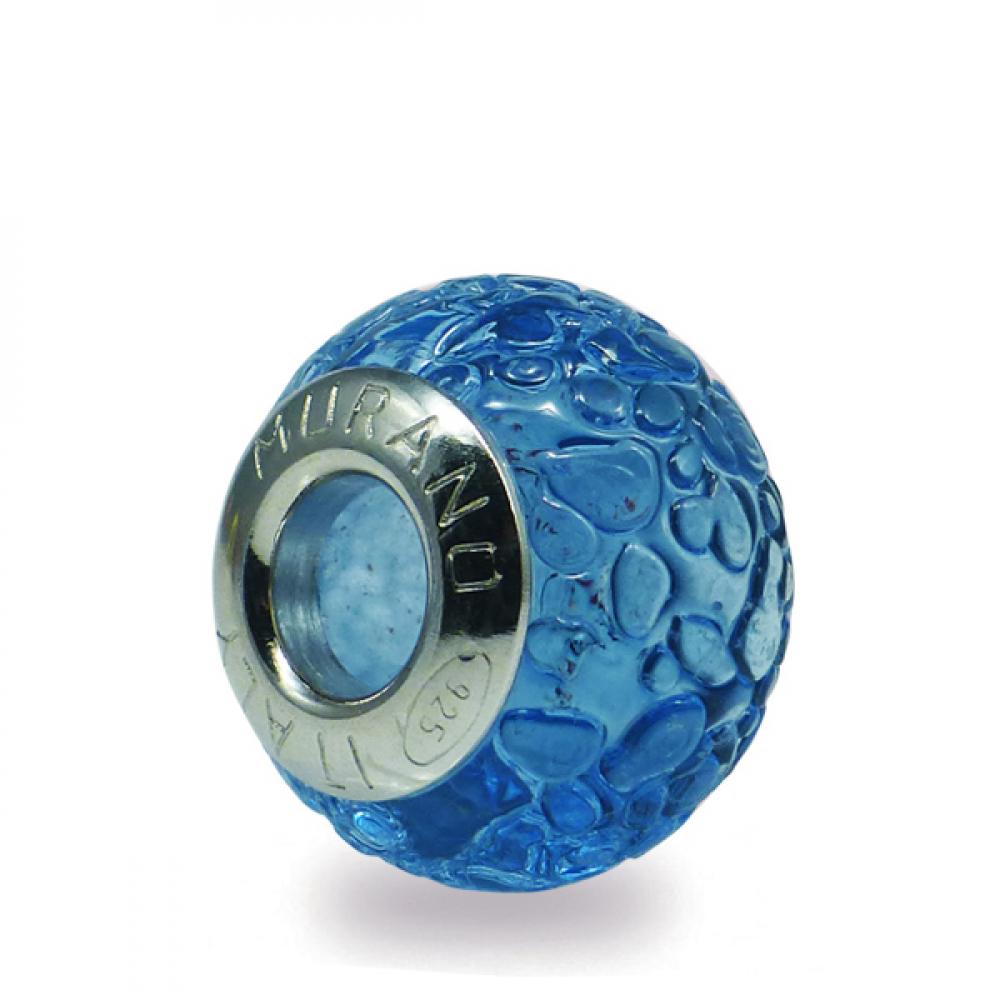 Murano Glass charm bead - Dodici blue violet Photo