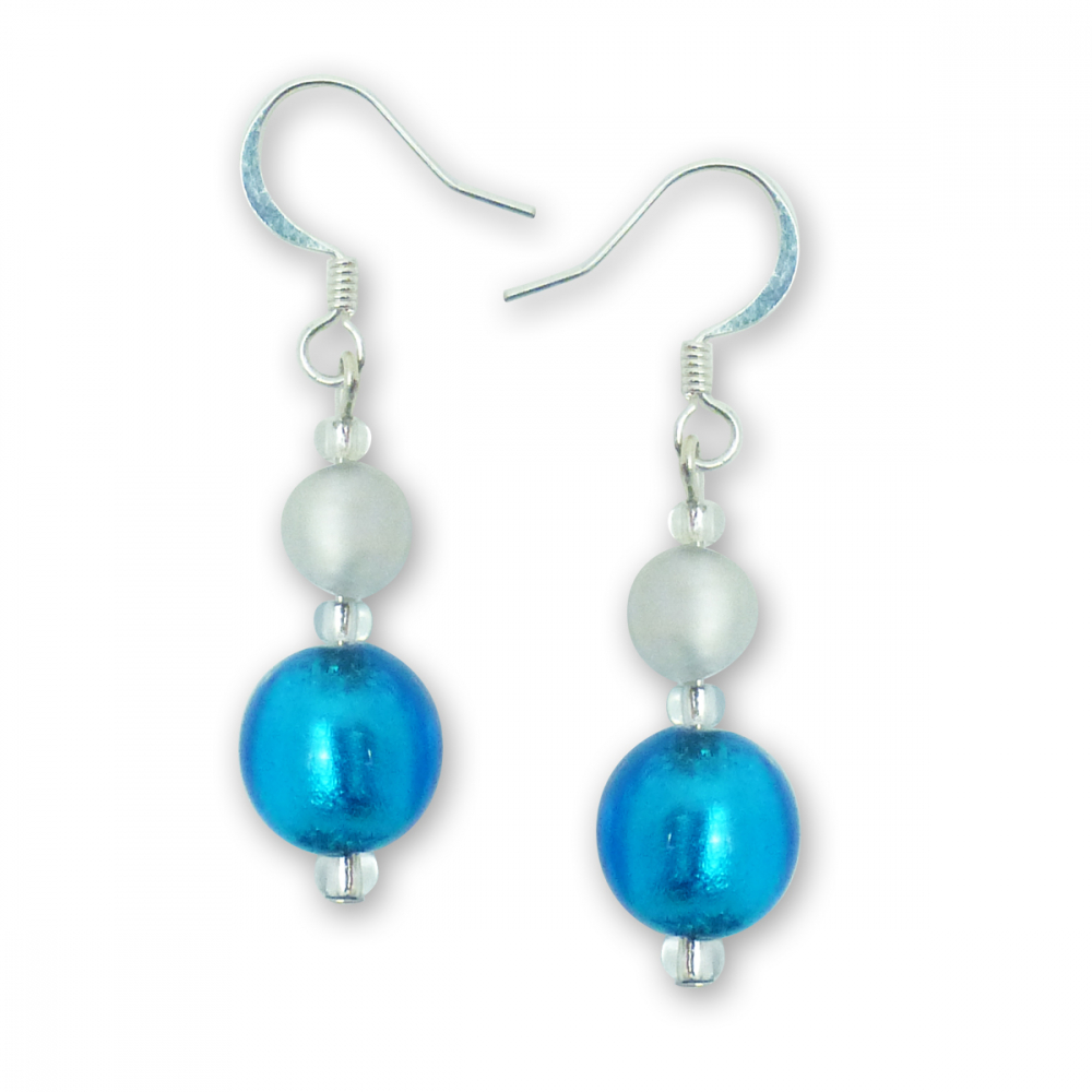 Murano Glass Earrings - Gianna Azure Photo